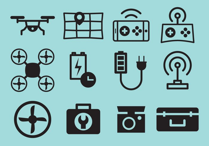 UX Design Case Study drone-vector-icons